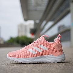 真标带半码2018新款adidas阿迪达斯NEO男女情侣大网透气呼吸网面休闲跑步鞋 36 36.5 37 38 38.5 39