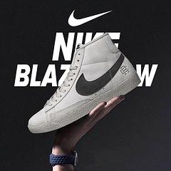 真标半码Nike Blazer Mid x Reigning Champ卫冕冠军  后跟皮革稳定出印有 Reigning Champ 的品牌 3M反光 Logo,39-44