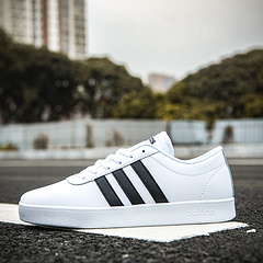 阿迪达斯Adidas Neo 超软二层皮低帮小白鞋 36 36.5 37 38 38.5 39 40 40.5 41 42 42.5 43 44