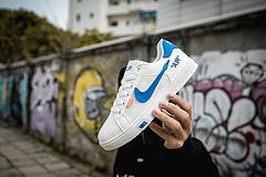 爆款推荐 亚博集团/NIKE联名 Unisex 皮面透气网休闲鞋 镂空 透气 网球文化板鞋36-44