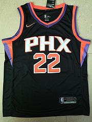 NBA状元新秀耐克球迷版太阳22号艾顿黑色球衣