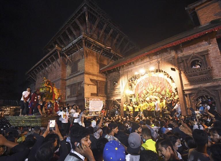 尼泊尔庆祝因陀罗节