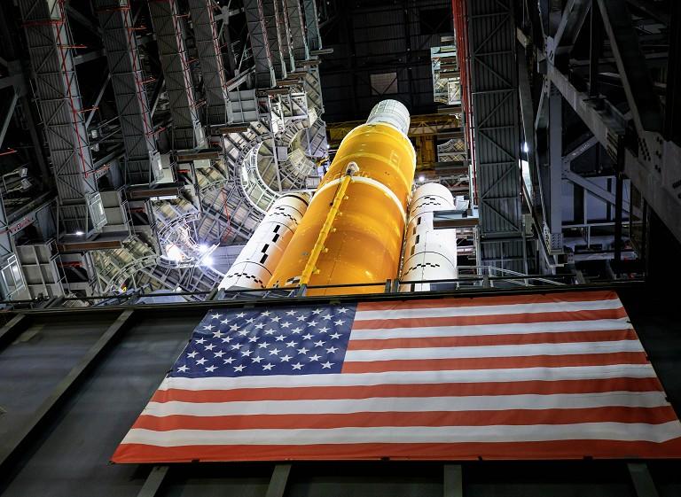 美国登月火箭测试