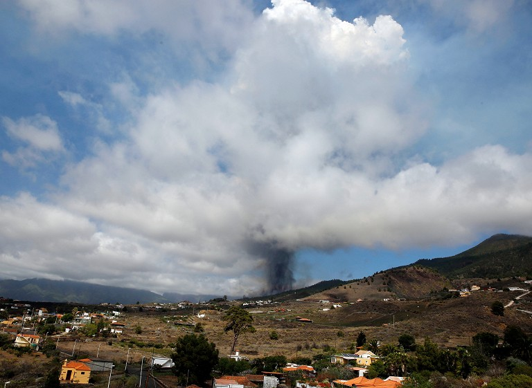 西班牙火山喷发
