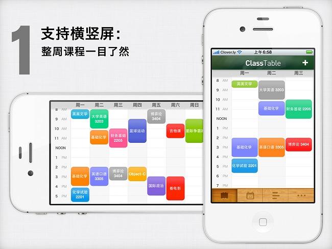『iPhone应用推荐』课程表·ClassTable,最棒的中文课程提醒 App(转载) - 800bu - {800Bu}