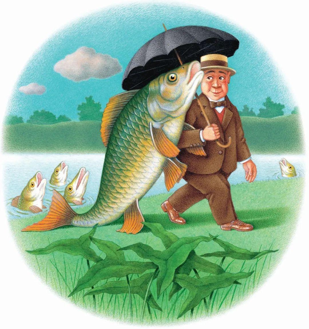 亨利·加莱龙作品,摘自《想和鱼一起走的人》