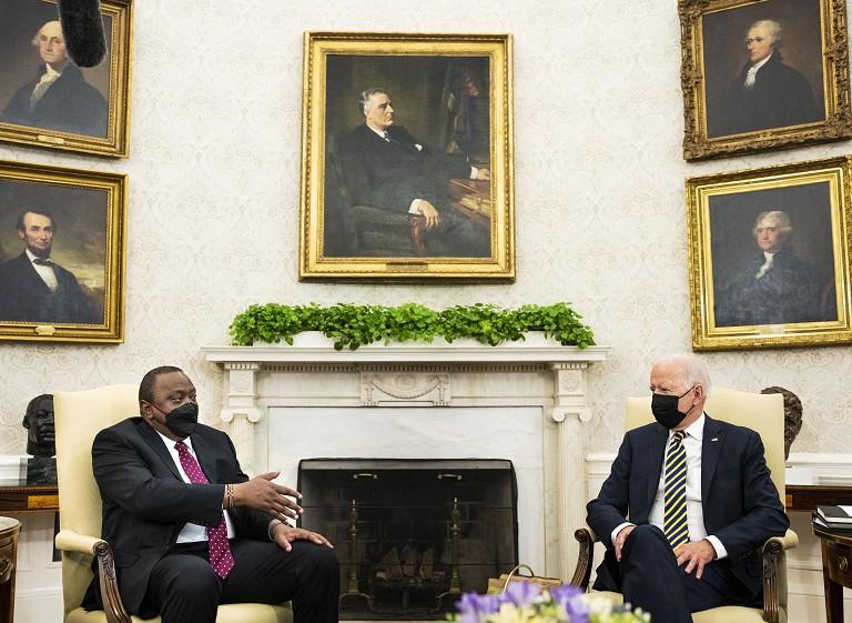 拜登会晤肯尼亚总统