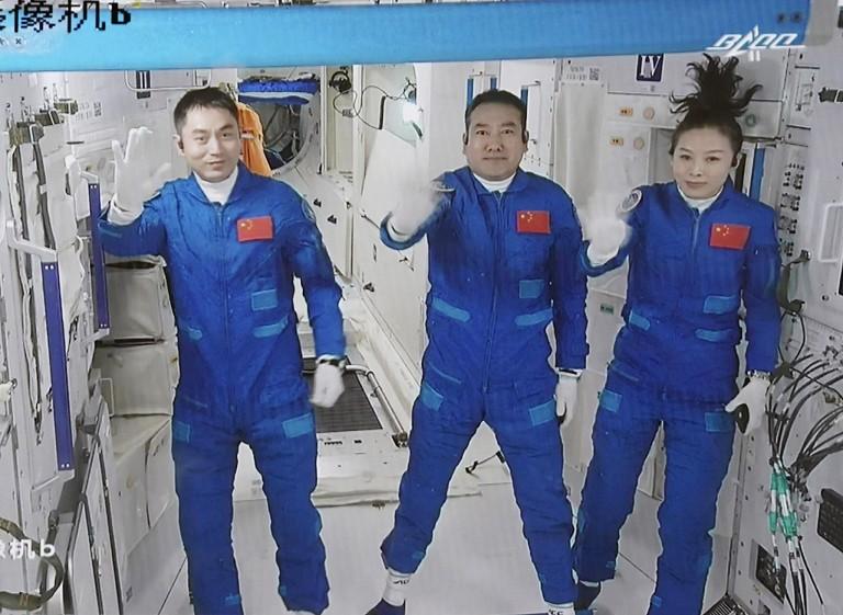 中国空间站视频连线