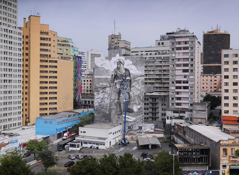 巴西环保主题壁画