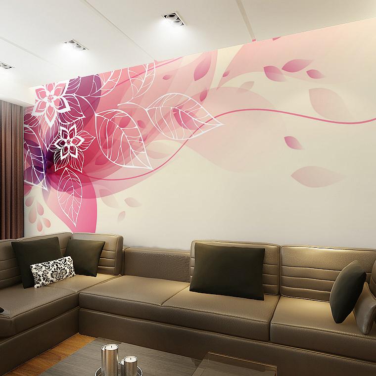 C D Modern Simple Style Background 3d Flower Murals Living