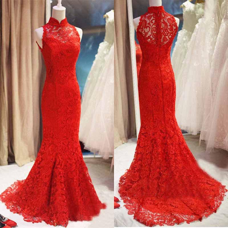 Длинные красные платья в пол вечерний