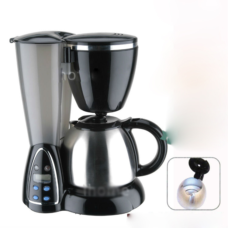 New 1 2l black automatic stainless steel coffee maker for Best luxury coffee maker
