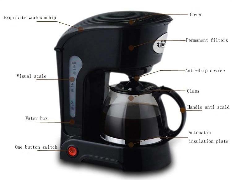 New Black Full-Automatic Electric Espresso Coffee Maker Machine Coffee Pot eBay