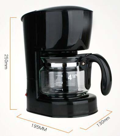 New Black Plastic Capacity 4 Cups Home Drip Fully-Automatic Coffee Maker * eBay