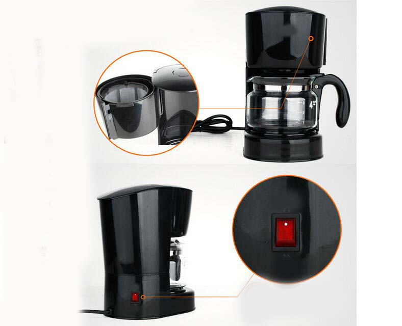 One Cup Coffee Maker Without Plastic : New Black Plastic Capacity 4 Cups Home Drip Fully-Automatic Coffee Maker * eBay
