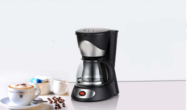 New Black Plastic Capacity 0.7L Home Office Automatic Drip Coffee Maker # eBay