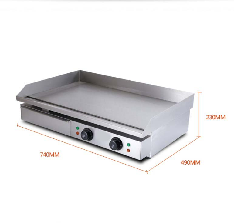 Commercial teppanyaki w grill hot plate bbq stainless