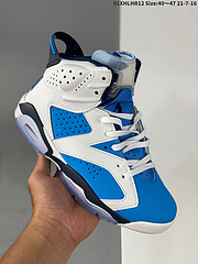 110AirJordan6RetroElectricGreen高帮AJ6乔丹6代aj6乔6高邦白蓝乔丹篮球鞋系列鞋款整体以蓝色为基调并辅以活力十足的电子绿点缀此外