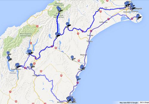 新西兰难道自驾游 路线