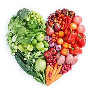 新鲜蔬菜水果爱心图