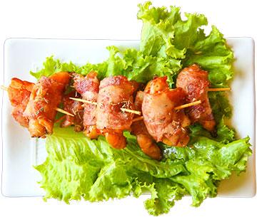罗勒培根虾卷高清抠图