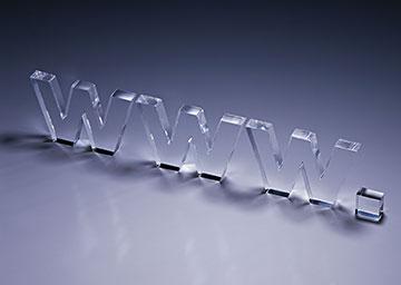 WWW立体水晶艺术字