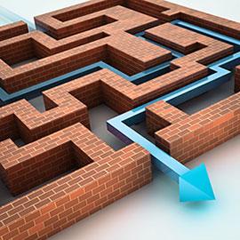 创意砖墙迷宫