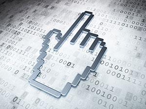 创意像素手型的数字信息化