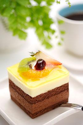 精美的巧克力芝士小蛋糕