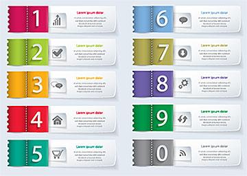多彩缝针线质感标签UI设计