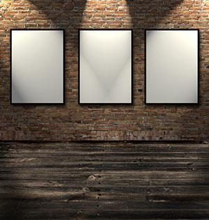 砖墙射灯挂画