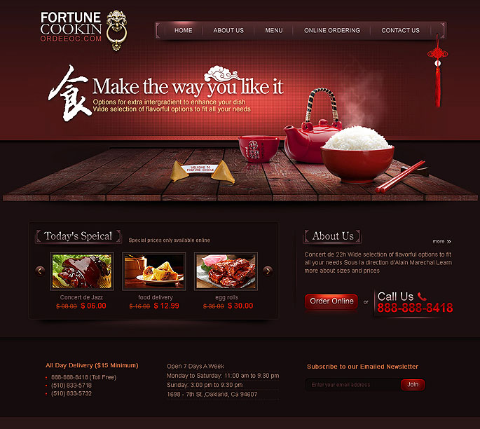 Fortune Cookin餐饮 中国风 三维设计