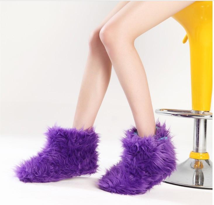 靴室内靴亲子靴潮流女靴童靴 女冬靴女鞋中筒靴毛毛靴子批发