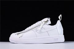 """【顶级纯原装 专柜品质】 机能鼻祖品牌 ACRONYM x Nike Lunar Force 1 机能空军低帮潮流板鞋""""All/全白""""AJ6247-100"""