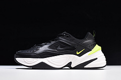 """亚博集团Nike M2K Tekno 复古潮流百搭旅游老爹鞋""""黑白绿""""AO3108-002"""