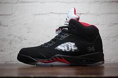 """Supreme x Air Jordan 5 """"Black 黑红"""