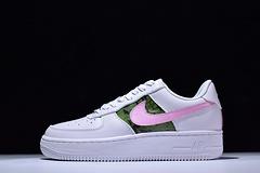 """【原装级】高级定制Born Originals Nike Air Force 1 空军一代 潮流板鞋 """"错落丛林白粉"""""""