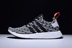 NMD R2 PK 跑步鞋 白红 二代 新款 黑白纹 BB2951