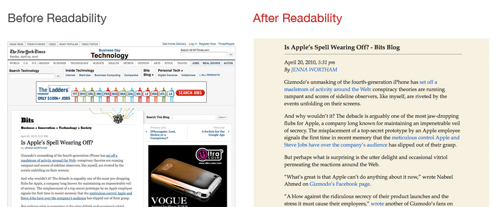 Readability 效果图