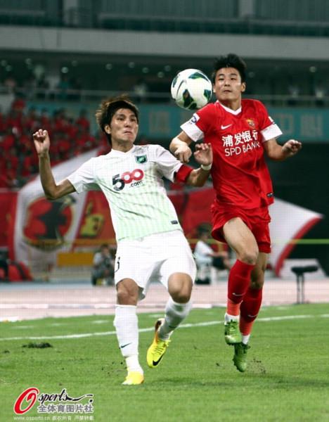 2013年中超第24轮:上海东亚2-0杭州绿城
