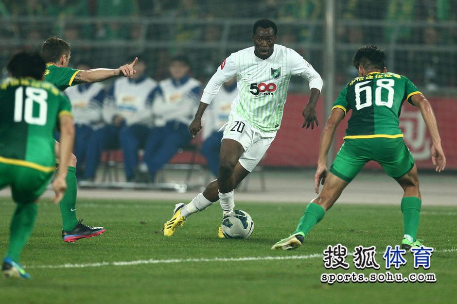 2013年中超第28轮:北京国安1-1杭州绿城