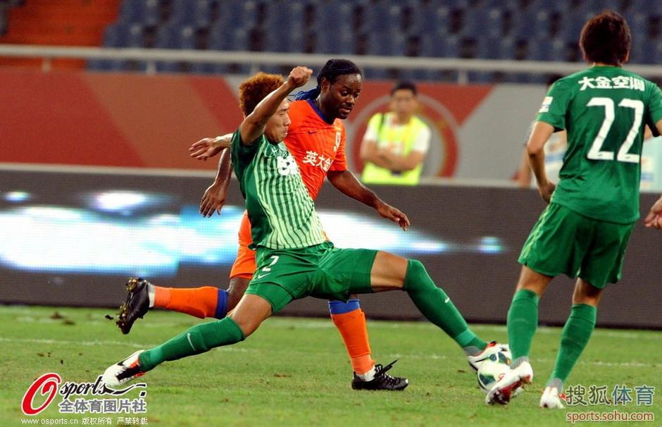 2013年中超第22轮:山东鲁能泰山1-0杭州绿城