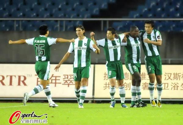 2010年中超第25轮:杭州绿城1-2北京国安