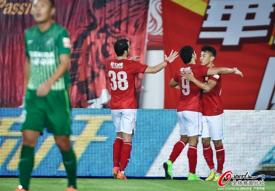 2014年中超第27轮:广州恒大4-0杭州绿城
