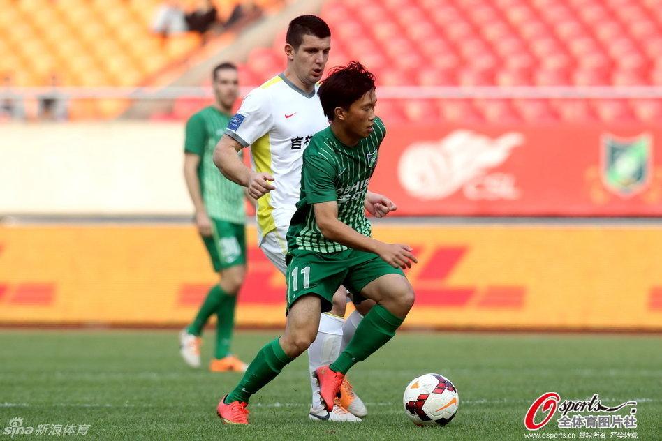 2014年中超第30轮:杭州绿城1-1长春亚泰