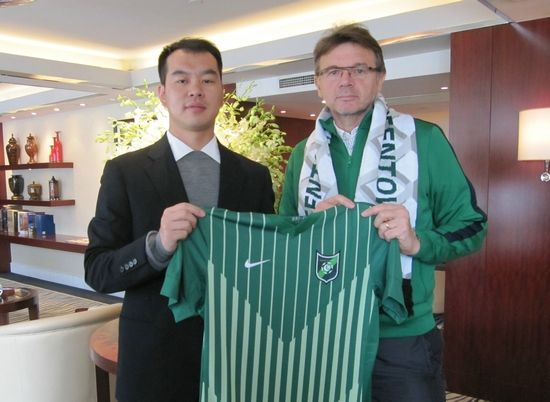 杭州绿城俱乐部与特鲁西埃正式签约