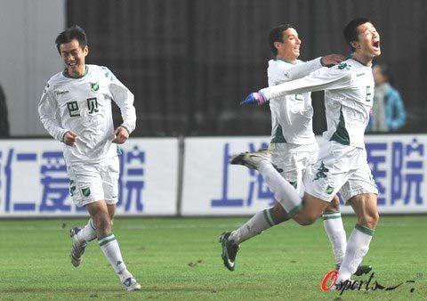 2008年中超第30轮:上海申花2-2浙江绿城