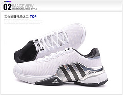 2015阿迪达斯adidas Barricade 9.0 穆雷德约科维奇网球鞋 白黑40-45