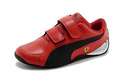 彪马童鞋法拉利--- 红黑 25-37