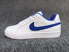 亚博集团  NIKE COURT ROYALE LW LEATHER 男女运动鞋 白蓝 36-44真标半码36.5 38.5 40.5 42.5